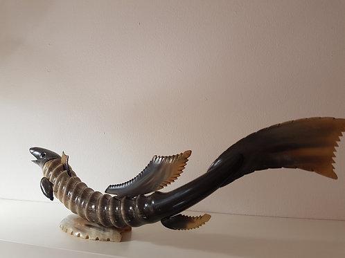 Vis gemaakt van hoorn vintage