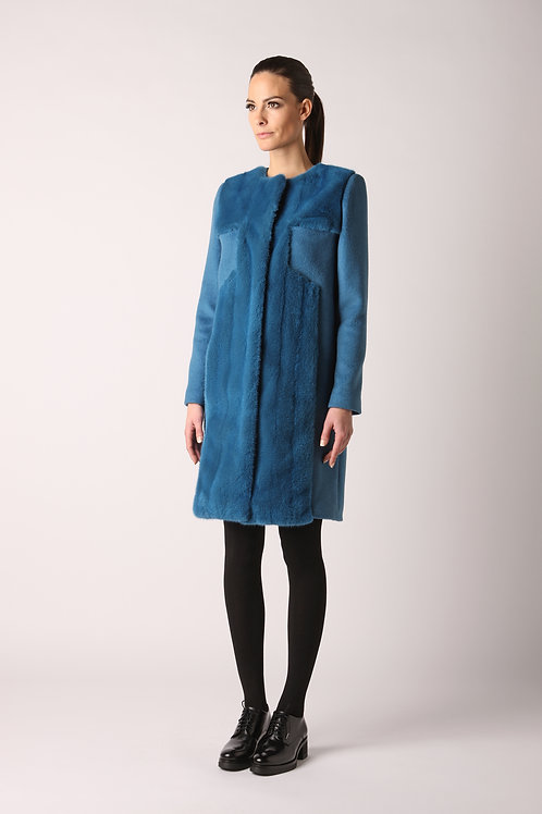 Coat with mink and cashmere