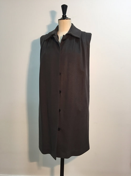Long vest with weasel inside Anthracite