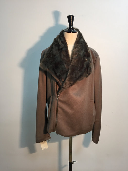 Jacket cashmere and checkiang Lichen (dark green)