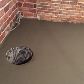 Sump Pump Basket with new Concrete Flooring