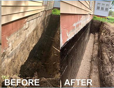 Exterior excavation for foundation repair