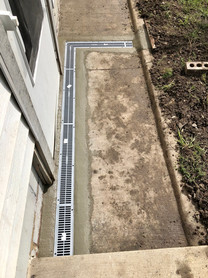 Trench Drain Installed