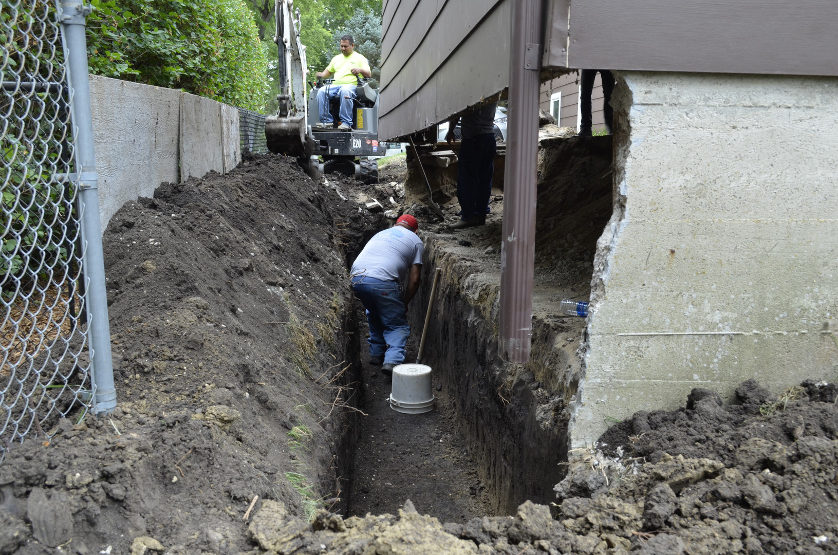 Building New Footing and Foundation for a Garage