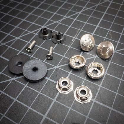 Belt Loop Snap Hardware - Nickel - 2 Sets