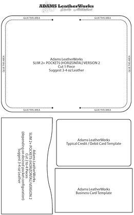 Slim 3-Pocket Wallet Version 2