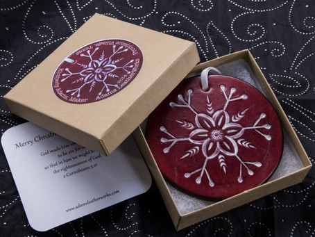 Leather Christmas Ornaments Now Available!