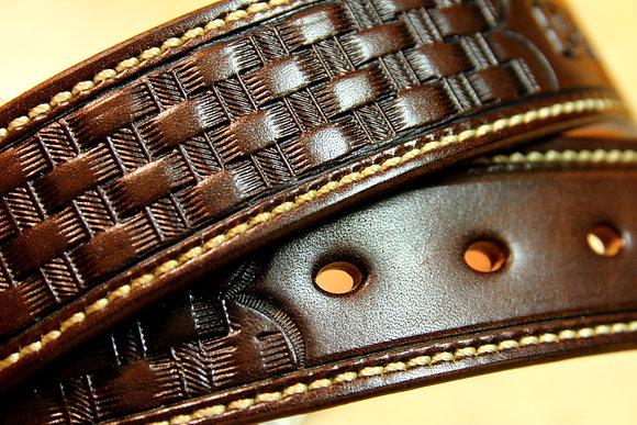 Gun Belt - Basketweave