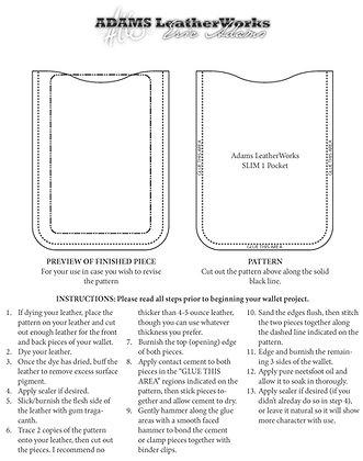 Slim Wallet Pattern Pack – 3 Patterns