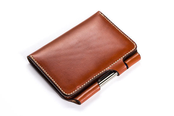 Leather Travel Journal with Pen Lock