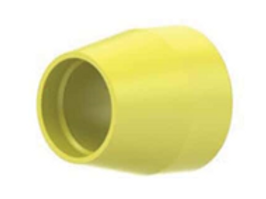 """Flangeless Ferrule Tefzel™, 1/4-28 Flat-Bottom, for 1/8"""" OD Yellow - 10 Pack"""