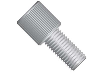 "Super Flangeless™Nut Delrin®, 1/4-28 Flat-Bottom, 1/16"" & 1/32"" Gray - Single"