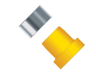 """Ferrule (ETFE), 1/4-28 Flat-Bottom, for 1/8"""" OD Yellow"""