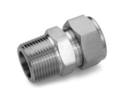 """MALE CONNECTOR SS 1/8""""COMP X 1/4""""MNPT"""