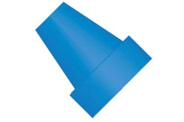 Flangenless ferrule , Blue ETFE, 1/16 1/4-28