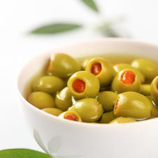 Oliven mit Paprika