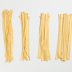 Spaghetti, Paglierini, Tagliolini, Tagliatelle, Pappardelle