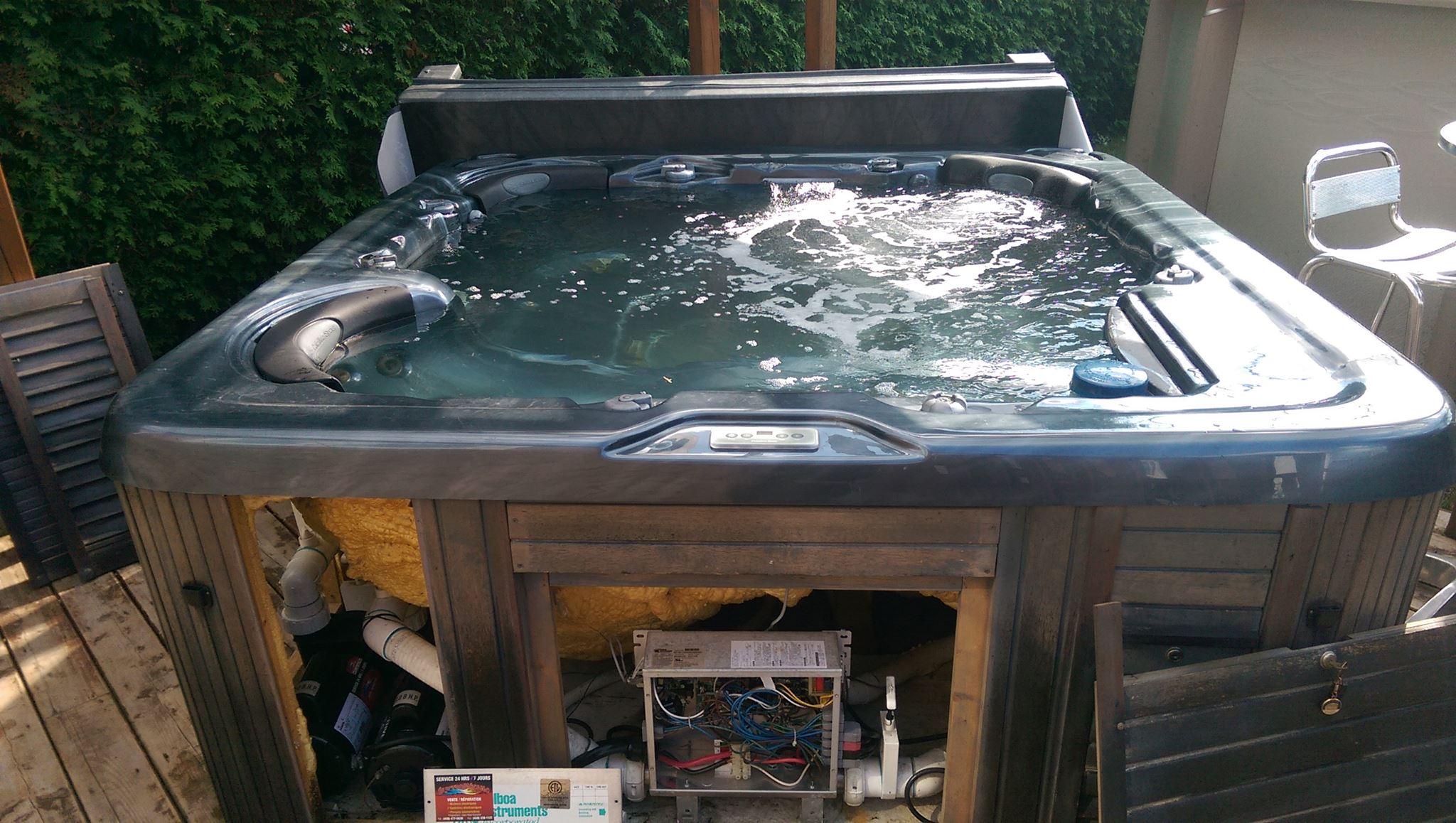 Réparation d'un spa.