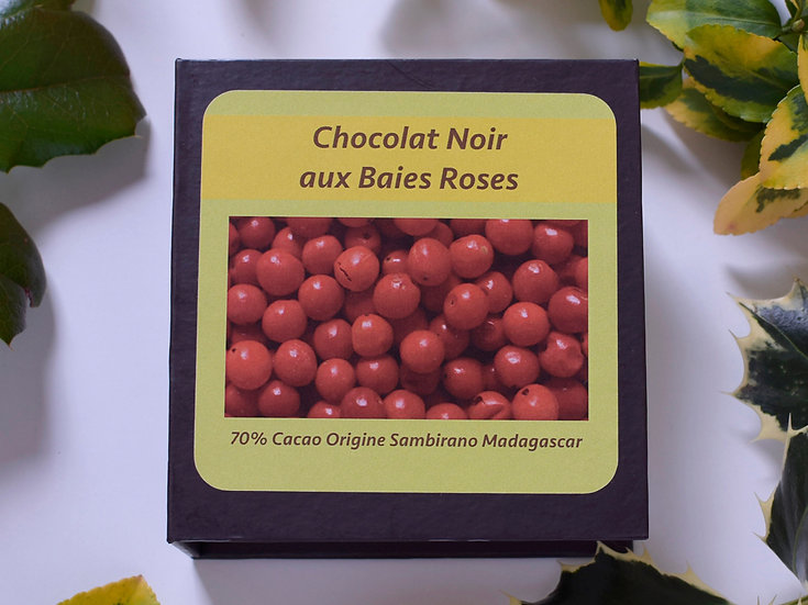 Pink pepper chocolate