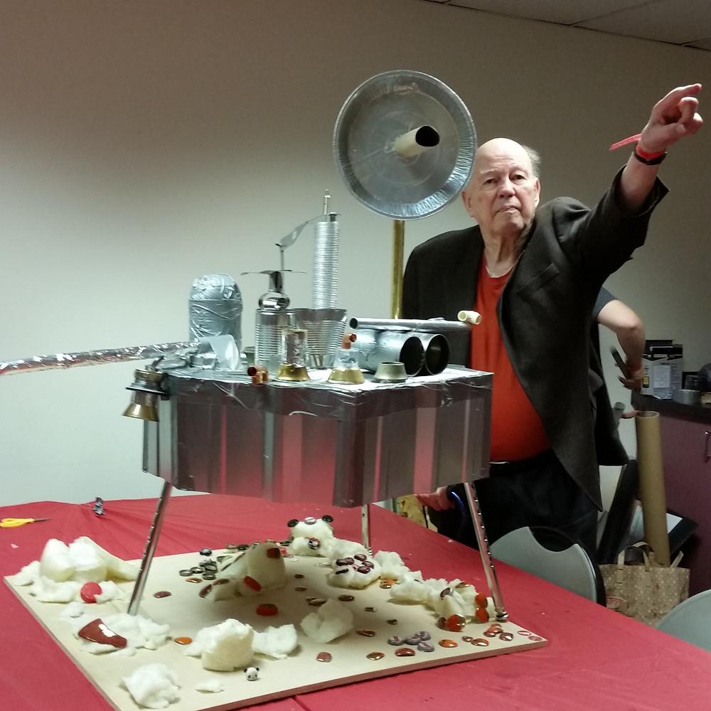 Professor James E. Tillman at the first MarsMaker event in Portland, Oregon.  © The Viking Mars Missions Education & Preservation Project (VMMEPP).