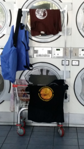 Doing laundry while on the road for two months conducting oral history interviews for VMMEPP.  Photo credit: (c) The Viking Mars Missions Education & Preservation Project (VMMEPP).