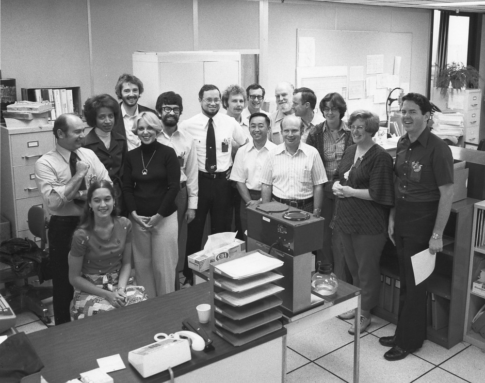 Pictured are some of the people that worked on Viking.  Photo credit: © The Viking Mars Missions Education & Preservation Project (VMMEPP) and NASA.