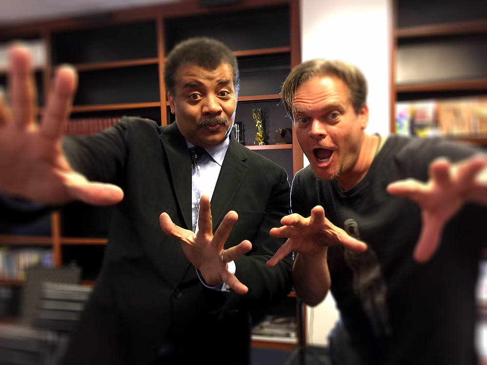 Astrophysicist Neil deGrasse Tyson (Left) with Director-Producer Todd Thompson