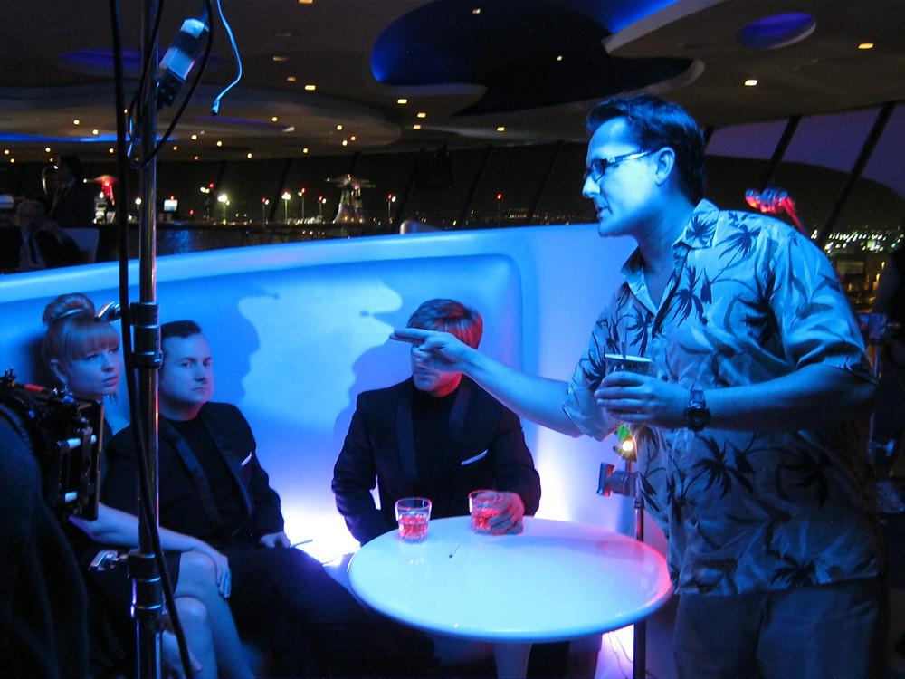 """Filmmaker James Kerwin on-set directing the short film """"R.U.R.: Genesis"""" (photo by Kipleigh Brown)."""