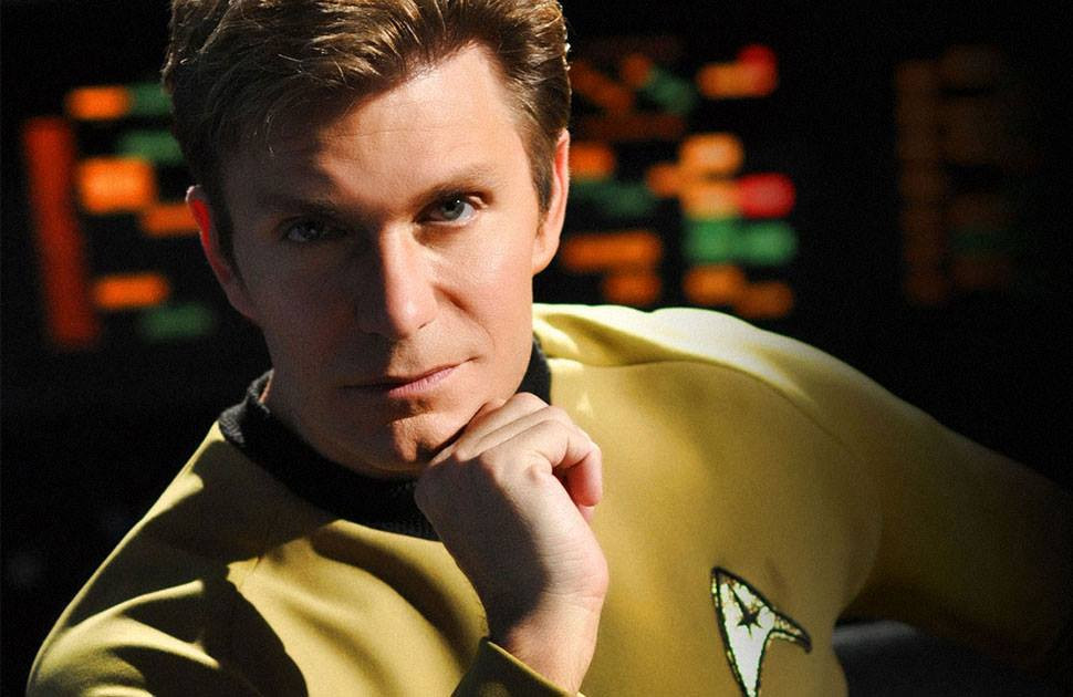"Actor, writer, director, editor, composer, and Executive Producer of ""Star Trek Continues,"" Vic Mignogna as Captain James T. Kirk (photo © Trek Continues, Inc.)"