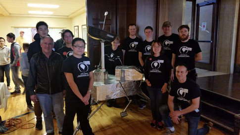 Young engineers and builders participating at a MarsMaker event.  Photo credit: (c) The Viking Mars Missions Education & Preservation Project (VMMEPP).