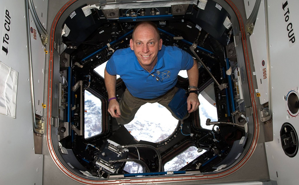 Astronaut Clayton C. Anderson on the International Space Station.  Photo credit: NASA.