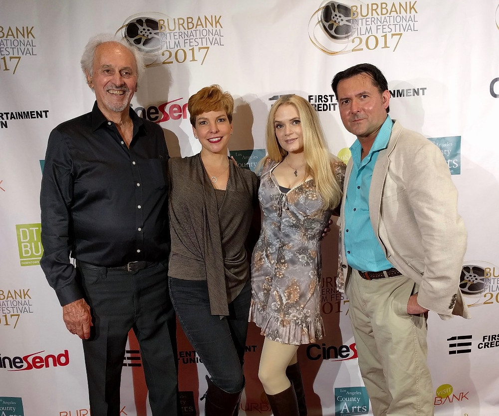 At the Burbank Film Festival (from left) Michael Forest, Lisa Hansell, Kipleigh Brown, and James Kerwin.