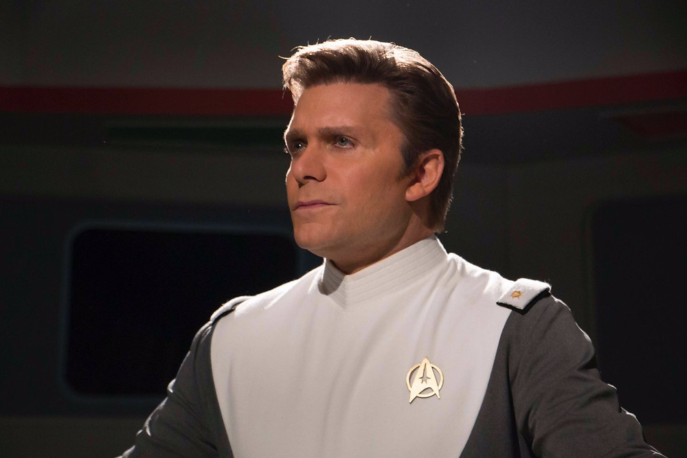 "Actor Vic Mignogna as Admiral James T. Kirk in the final scene from Episode 11 of ""Star Trek Continues,"" called ""To Boldly Go"" part II (photo © Trek Continues, Inc.)"
