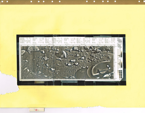 One of a kind artifact used to plan where to take the images on the planets surface.   Photo credit: (c) The Viking Mars Missions Education & Preservation Project (VMMEPP) and NASA.