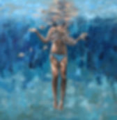 Nadia Rapti painting swimmer