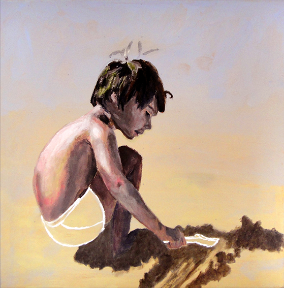 Boy on sand (SOLD)