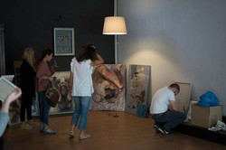 Setting up the Exhibition - Matching the artworks