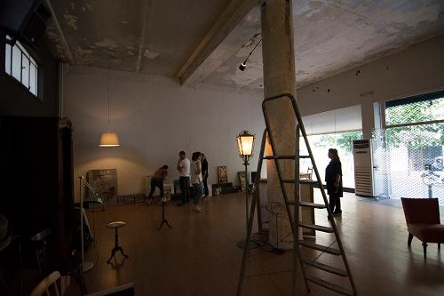 Before Setting up the Exhibition - empty space