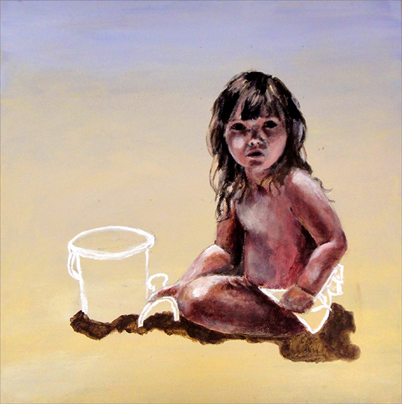 Girl on sand (SOLD)