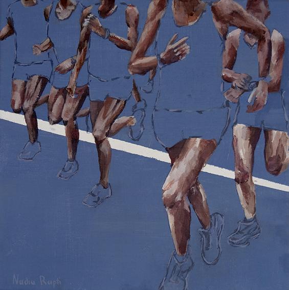 Ladies run, white line