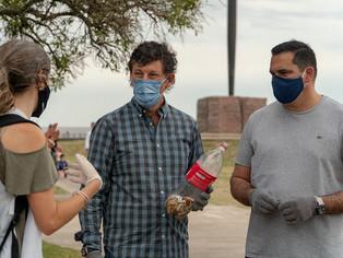 El radical Gustavo Posse se calzó los guantes para dar batalla y sacar la basura