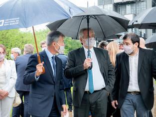 El intendente Moreira participó, junto al presidente Fernández, de la visita al laboratorio de la UN