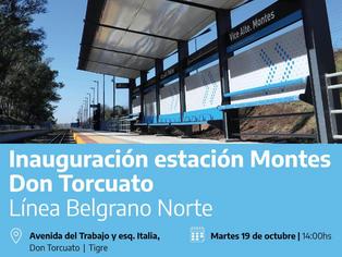Trenes Argentinos inaugura la nueva estación Montes