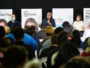 Zamora: el FdT no claudica, invertir en educación, salud y en generar empleo, es nuestra agenda