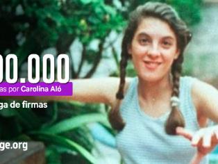 """100.000 firmas por Carolina Aló: """"no queremos libre al asesino"""""""
