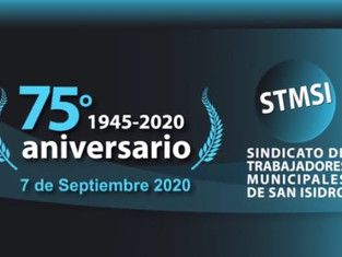 El Sindicato de Trabajadores Municipales de San Isidro celebró 75 años de compromiso