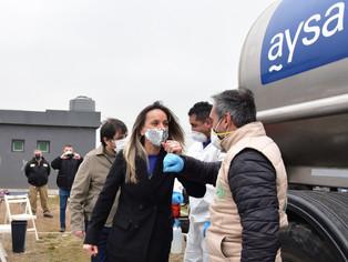 Tras décadas de postergación, Galmarini y Moreira llegan con agua potable y red cloacal: se abre la