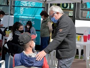 Zamora en plena articulación con AySa y Kicillfo: obras y vacunación para mejorar la vida