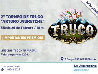 "2º Torneo Regional de Truco ""Arturo Jauretche"""
