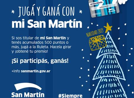 """Tarjeta """"Mi San Martín"""" invita a ser parte de la gran ruleta navideña"""